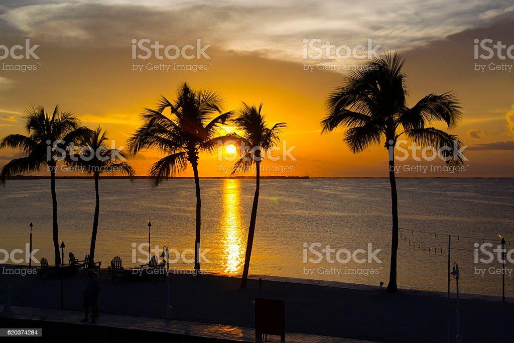 Zachód słońca na ocean zbiór zdjęć royalty-free