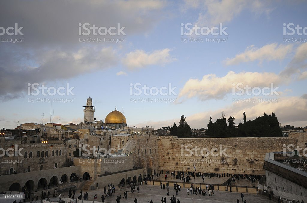 Sunset at the old city royalty-free stock photo