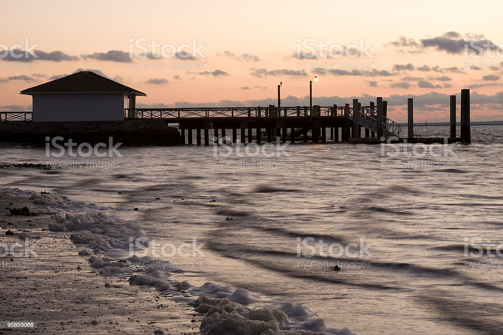 Sunset at the Pier royalty-free stock photo