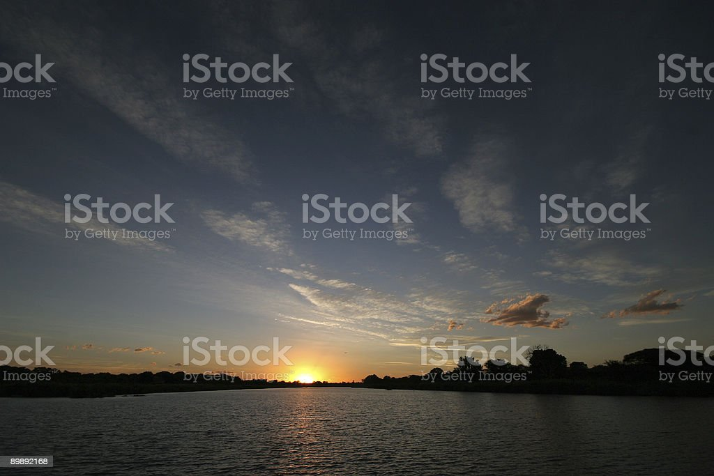 sunset at the sabie river royalty-free stock photo