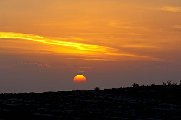 Sonnenuntergang im Sayq plateau – Foto