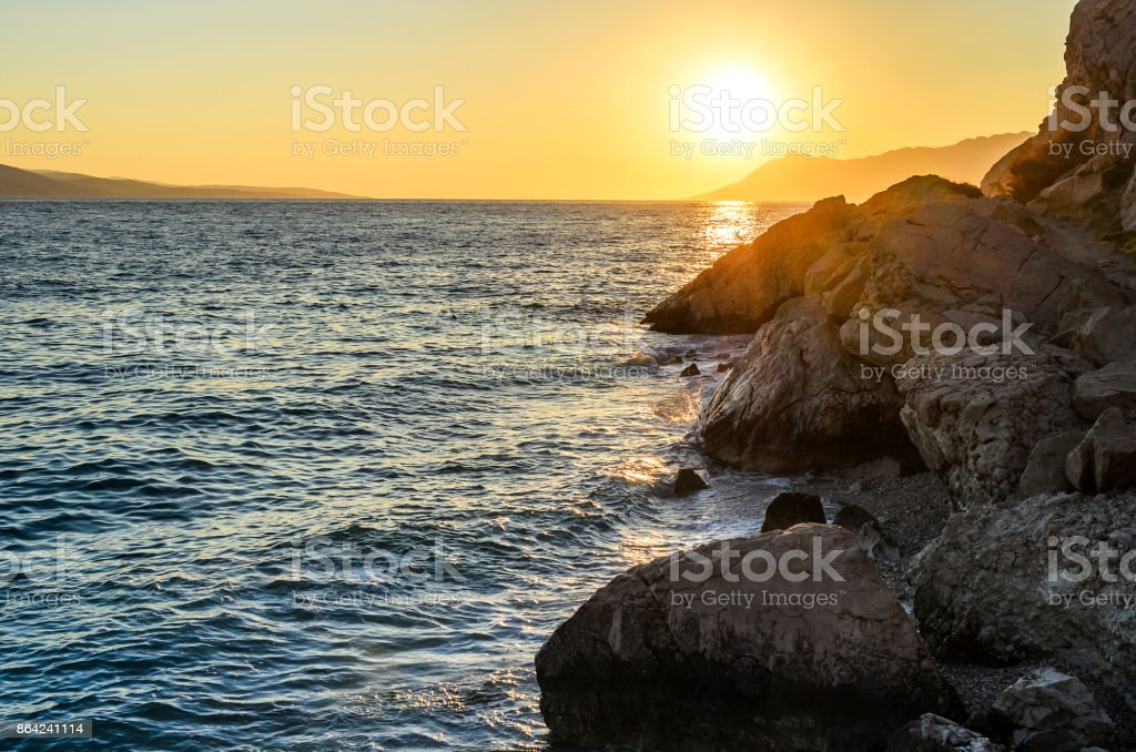 Sunset at the sea. royalty-free stock photo
