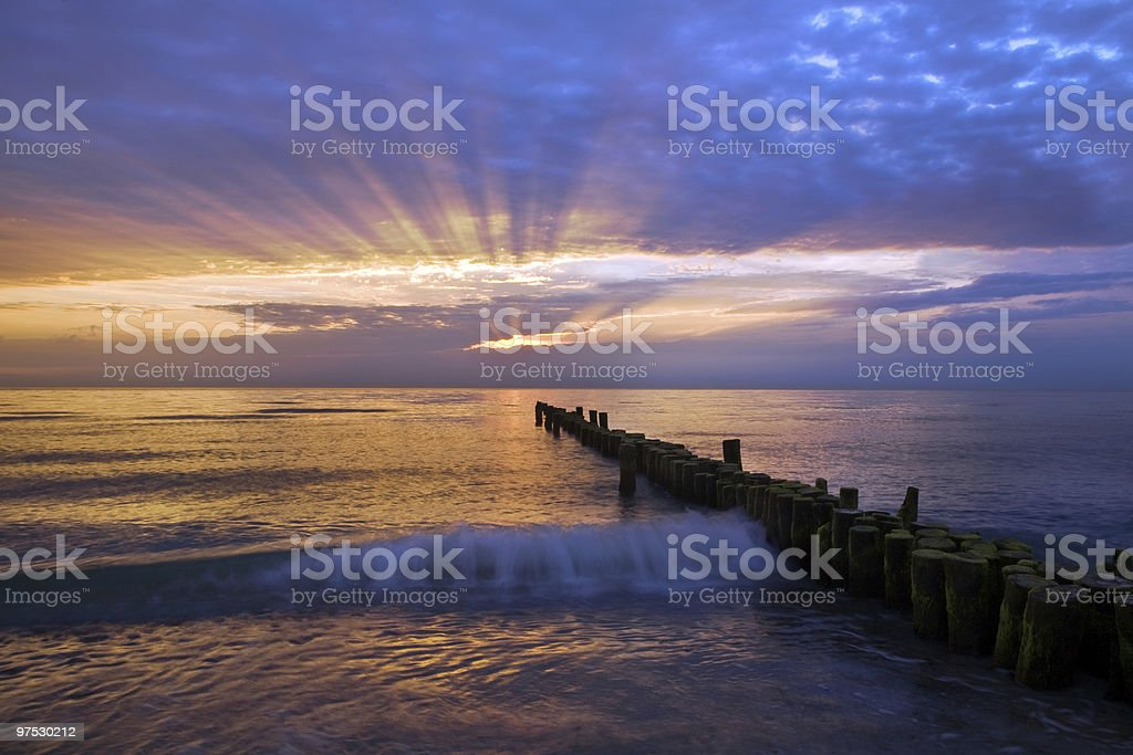 sunset at the sea royalty-free stock photo