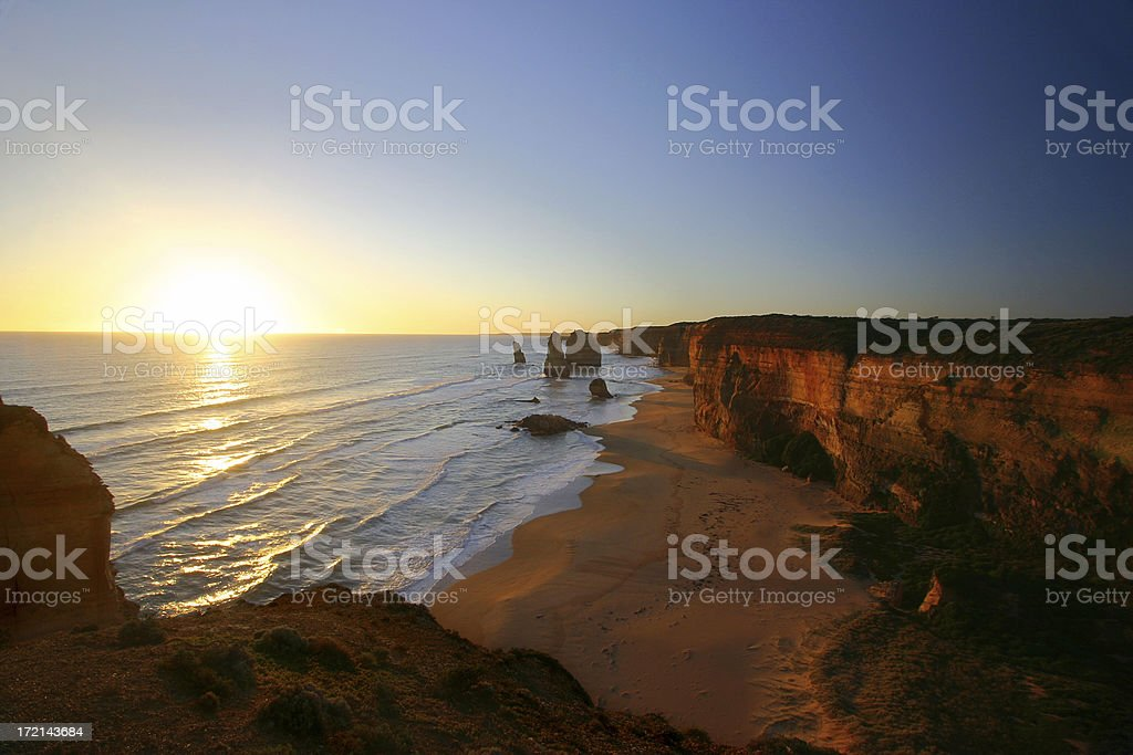 Sunset at the Twelve Apostles stock photo