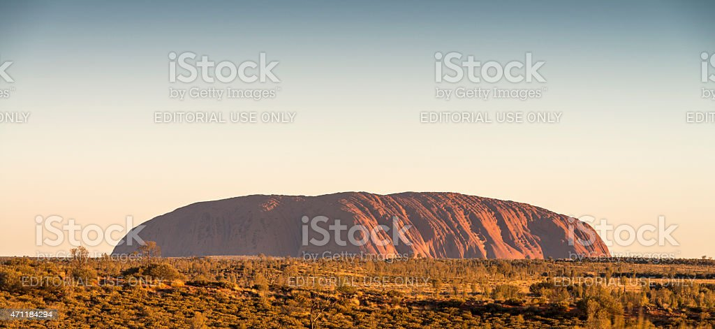Sunset at the Uluru / Ayers Rock stock photo