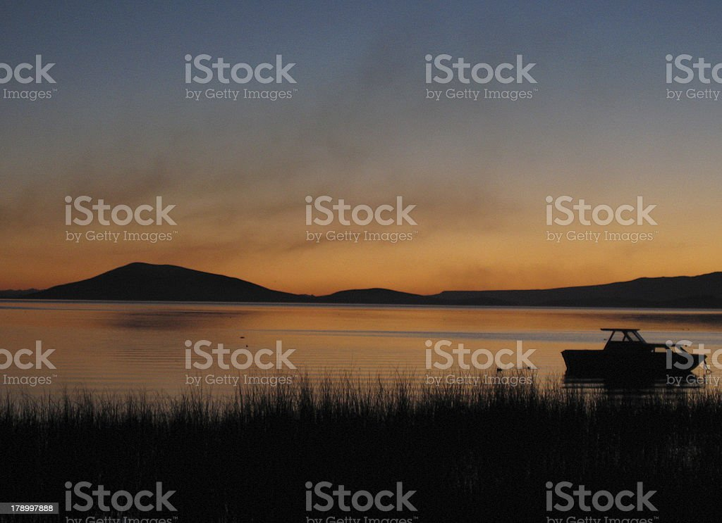 Sunset at Titicaca royalty-free stock photo