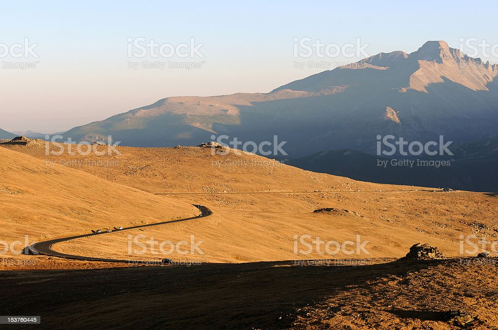 Sunset at Top of Trail Ridge Road royalty-free stock photo