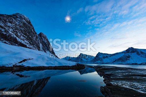 istock Sunset at Tungeneset on Senja island in Northern Norway during winter 1282085607
