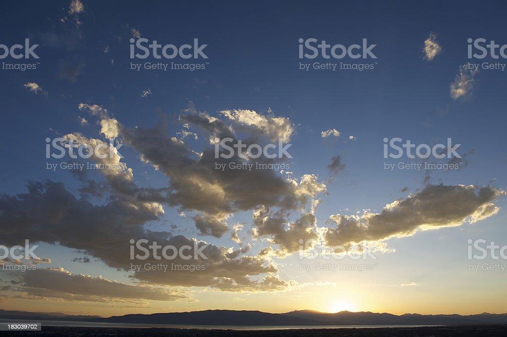 Sunset at Utah Lake, USA stock photo