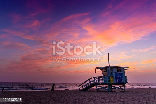 Colorful skies are the signature of Venice Beach