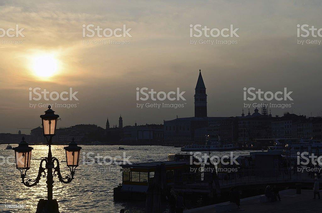 Sunset at Venice royalty-free stock photo