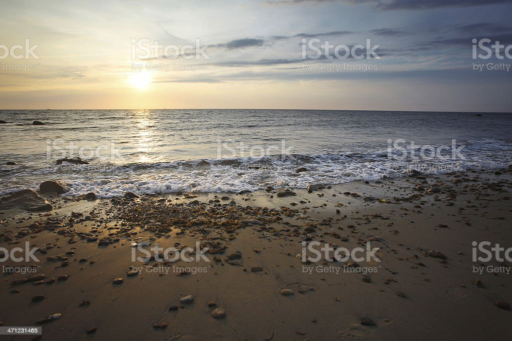 Sunset at west beach royalty-free stock photo