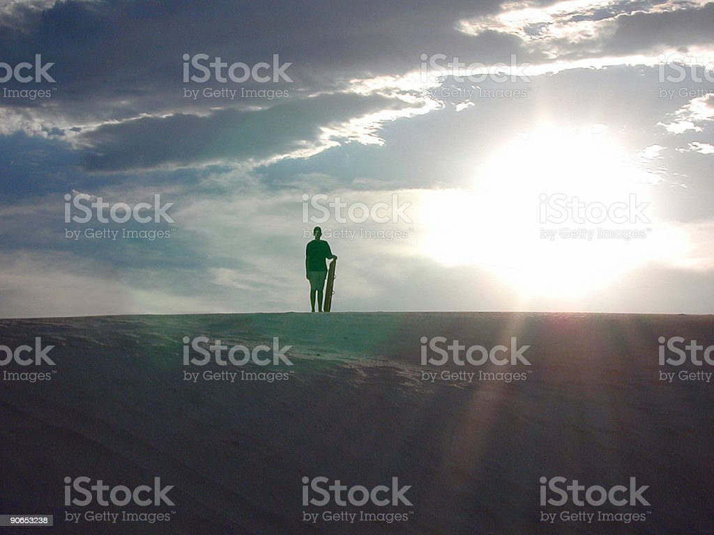 Sunset at White Sands, New Mexico royalty-free stock photo