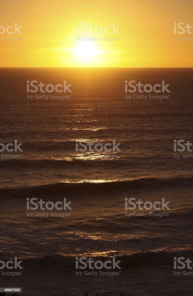 Sunset. Australia royalty-free stock photo