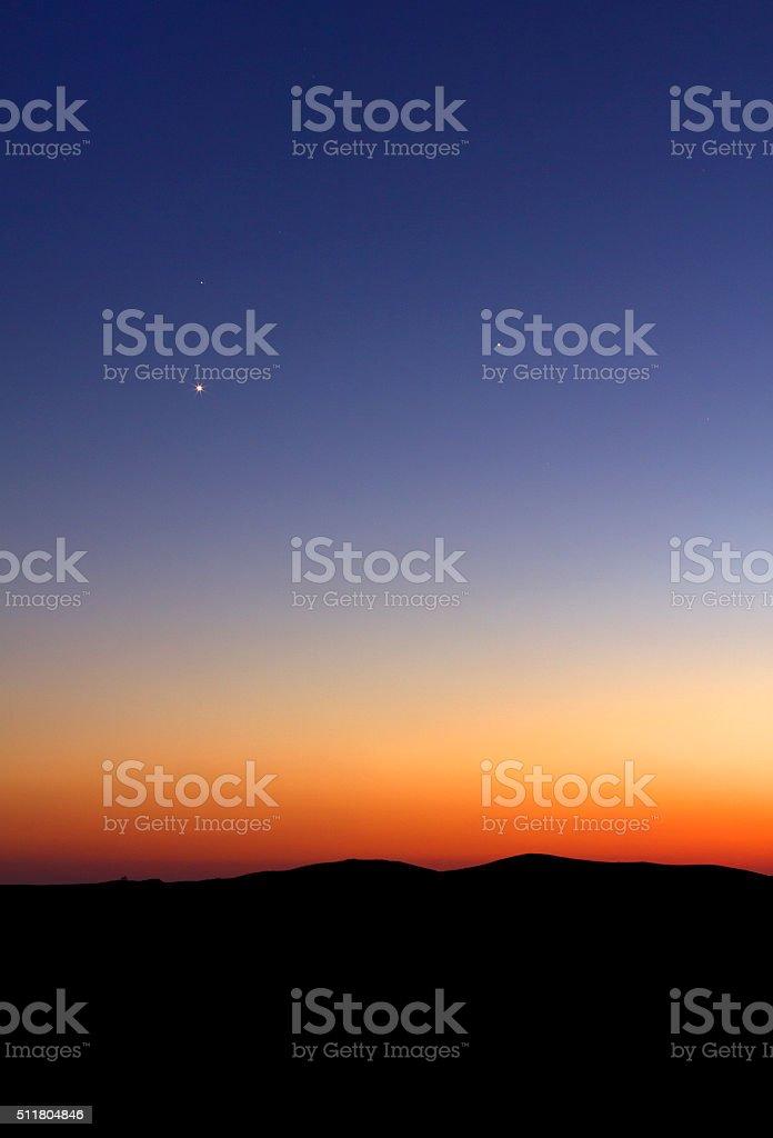 Puesta de sol de fondo - foto de stock