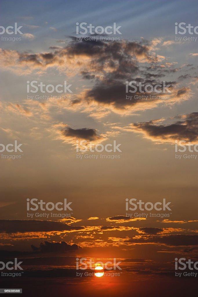 Sunset Background royalty-free stock photo