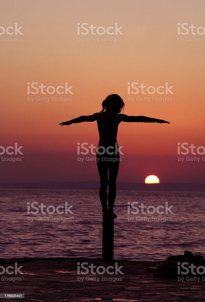 Sunset balance royalty-free stock photo