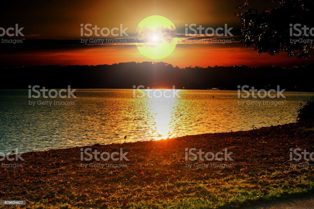 Sonnenuntergang Baldeneysee – Foto
