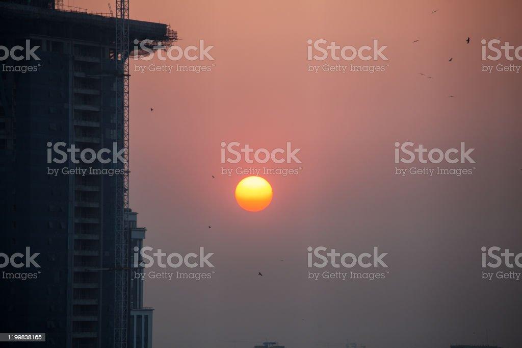 Sunset Bangalore, Karnataka, India. - Royalty-free Azië Stockfoto