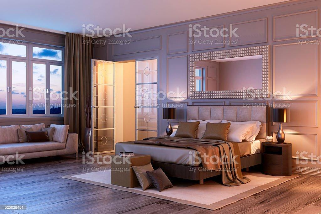 Sunset Café Bauhaus Schlafzimmer Innenansicht – Foto