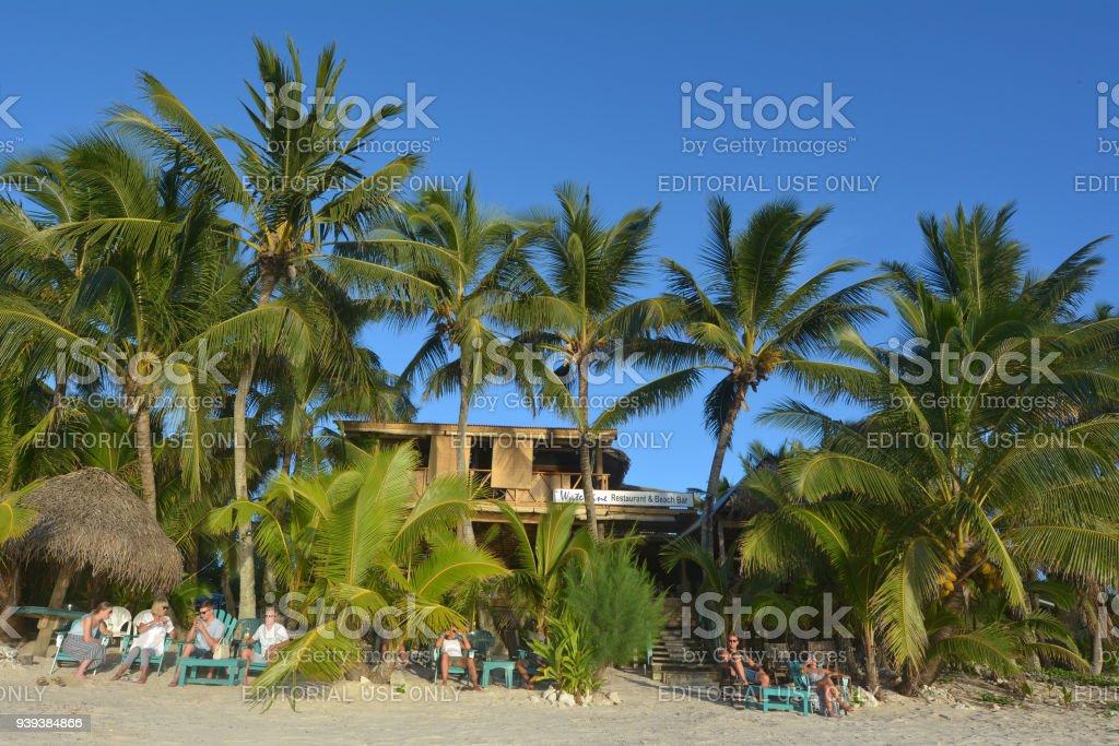Sunset Beach In Rarotonga Cook Islands Stock Photo More