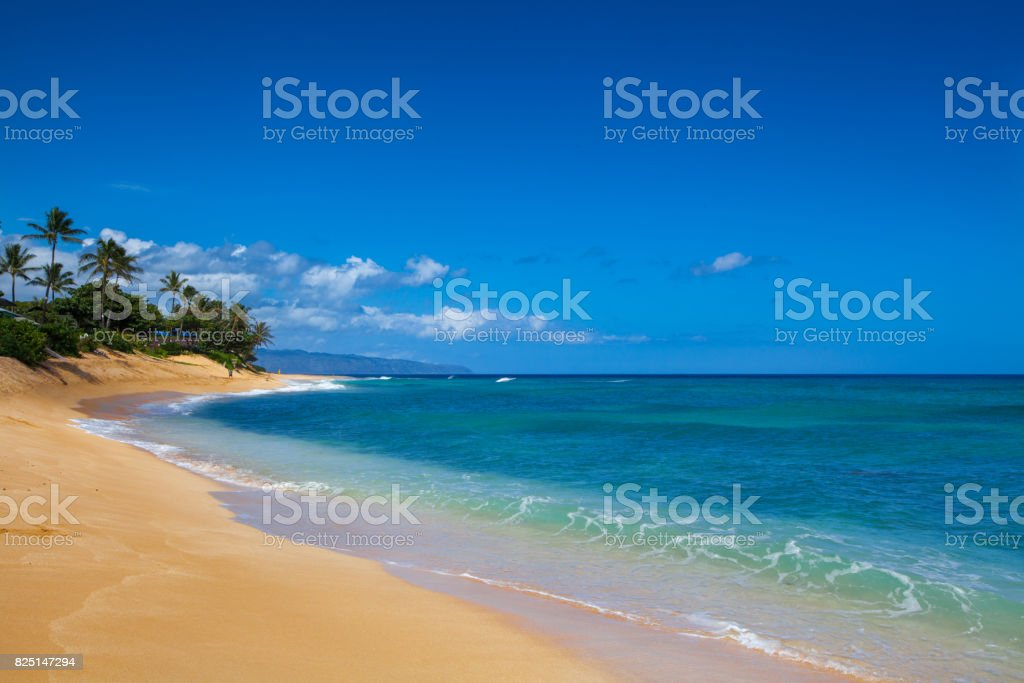 Sunset Beach Oahu stock photo