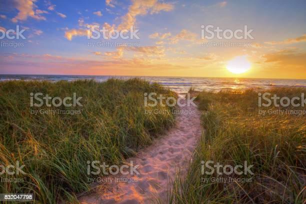 Photo of Sunset Beach Path Panoramic Background
