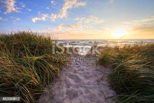 832047798istockphoto Sunset Beach Path Panoramic Background 832053812