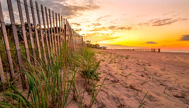 Sunset beach sunset beach at long island kings park new york eastern usa stock pictures, royalty-free photos & images