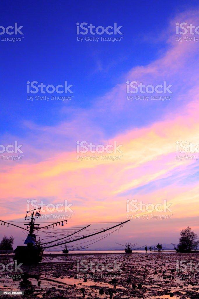 sunset beach Lizenzfreies stock-foto