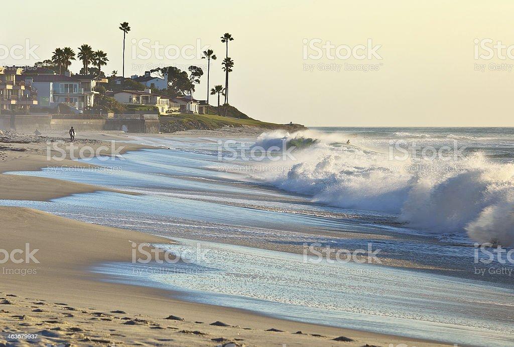 Sunset Beach, San Diego Southern California USA royalty-free stock photo