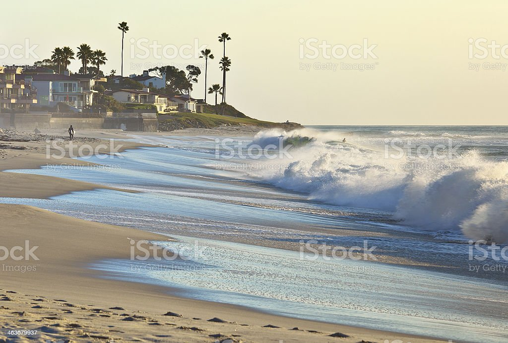 Sunset Beach, San Diego Southern California USA stock photo