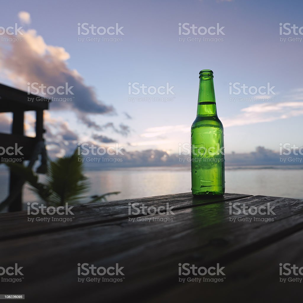 Sunset Beer royalty-free stock photo