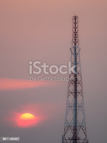 1169777785istockphoto Sunset behind The Cell Site 951146452