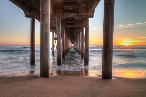 An Alien On The Pier At Huntington Beach Stock Image