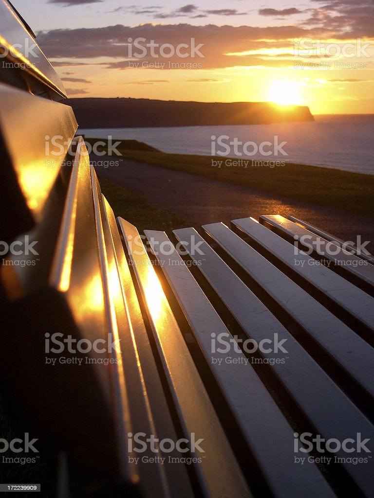 Sunset Bench royalty-free stock photo