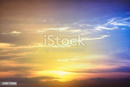 529114076istockphoto Sunset blue sky and clouds, Sky background on sunset 536678896