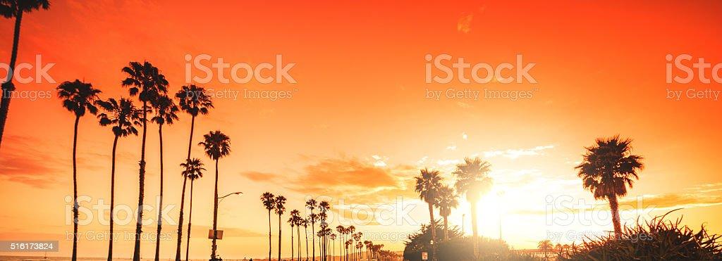 sunset blvd on beverly hills stock photo