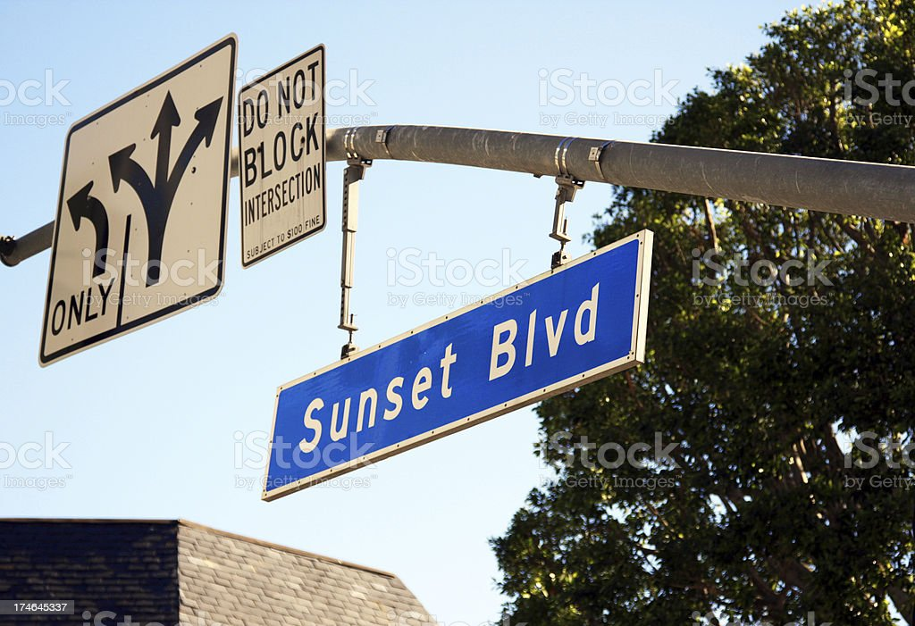 Sunset Blvd royalty-free stock photo