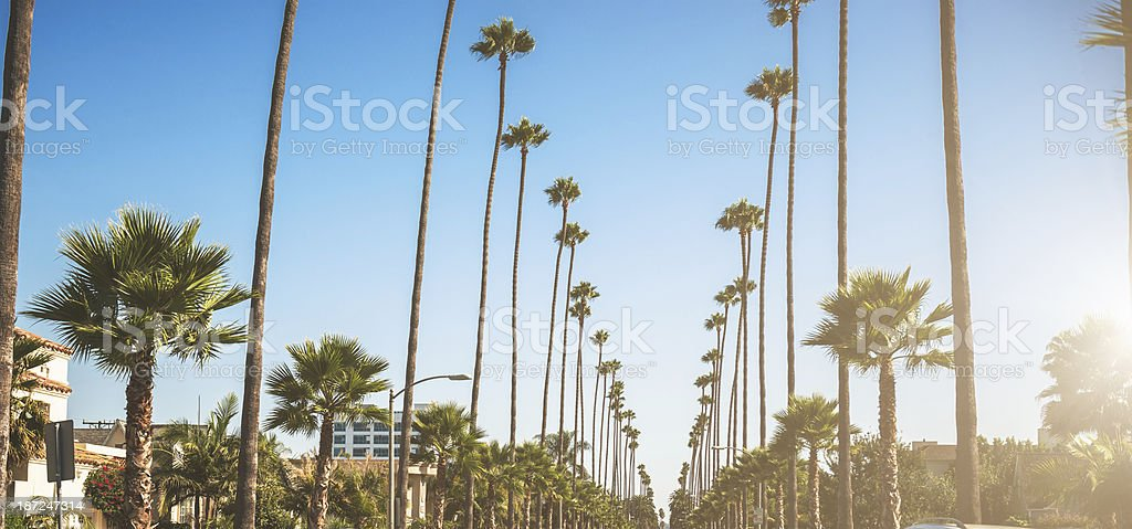 Sunset blvd strip in los angeles royalty-free stock photo