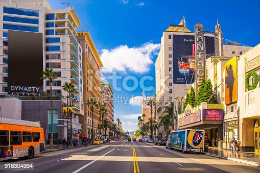 Sunset Boulevard - Hollywood in Los Angeles - USA