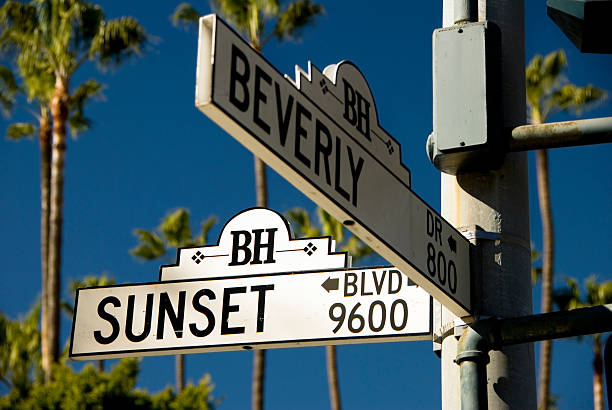 Sunset Boulevard  sunset strip stock pictures, royalty-free photos & images