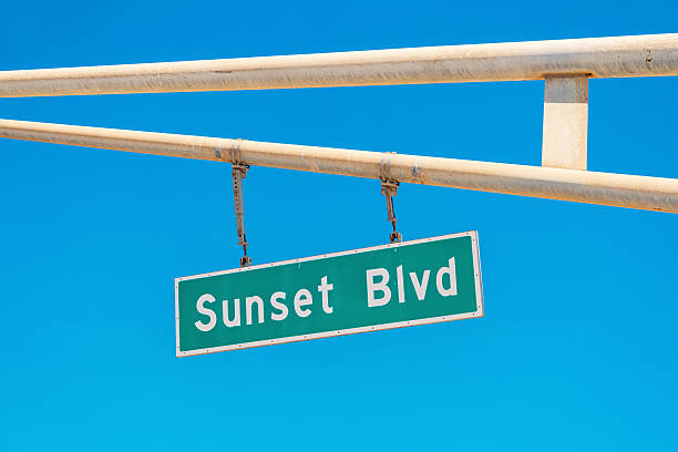 Sunset Boulevard Sign in Los Angeles California – Foto