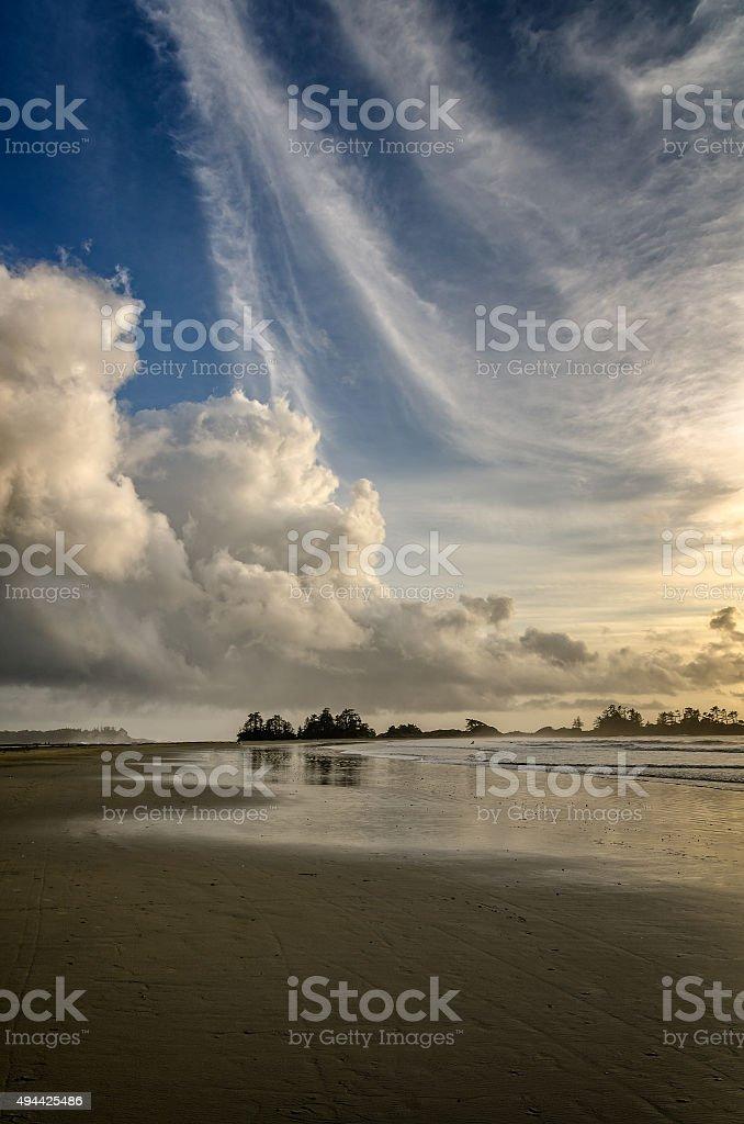 Sunset, British Columbia, Tofino stock photo