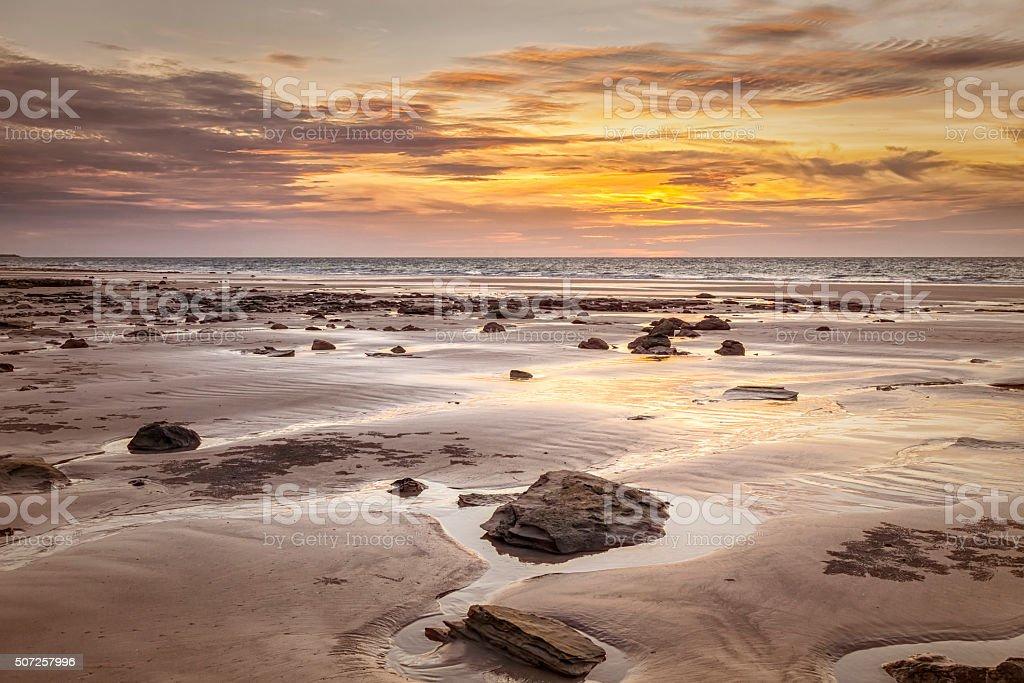 sunset Broome stock photo