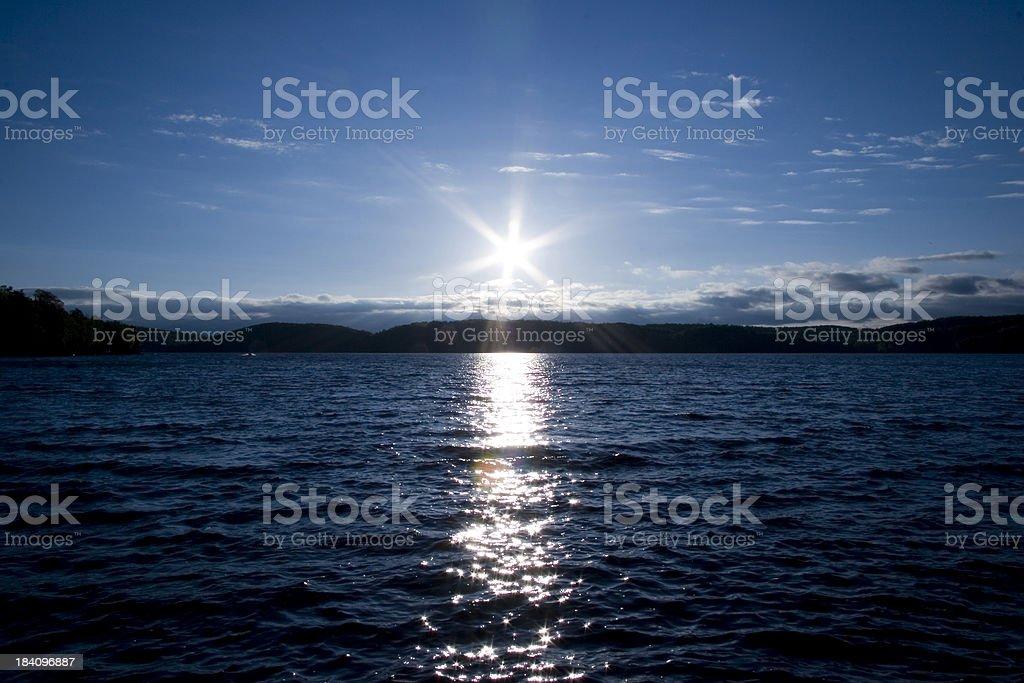 Sunset by lake. royalty-free stock photo