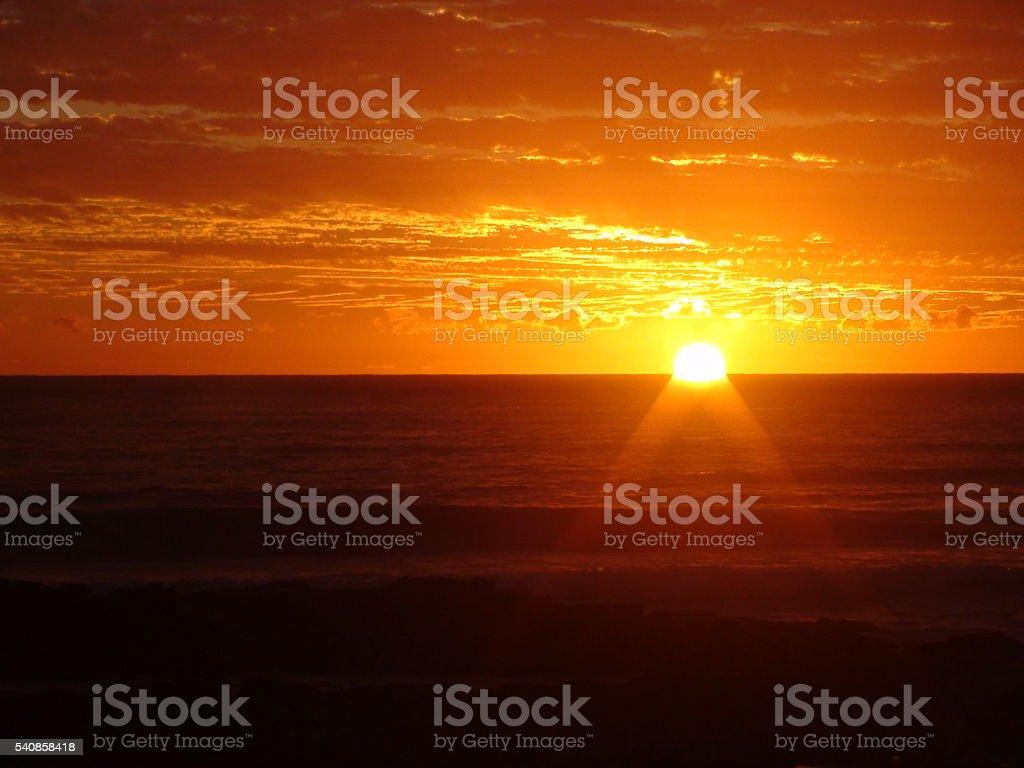 夕暮れ時の海 ロイヤリティフリーストックフォト