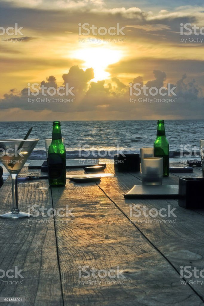 Sonnenuntergang am Meer – Foto
