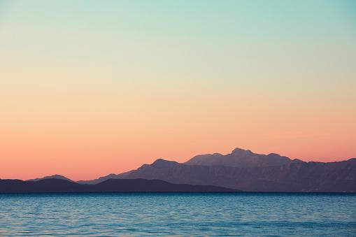 Beautiful sunset on Hvar Island (Croatia).