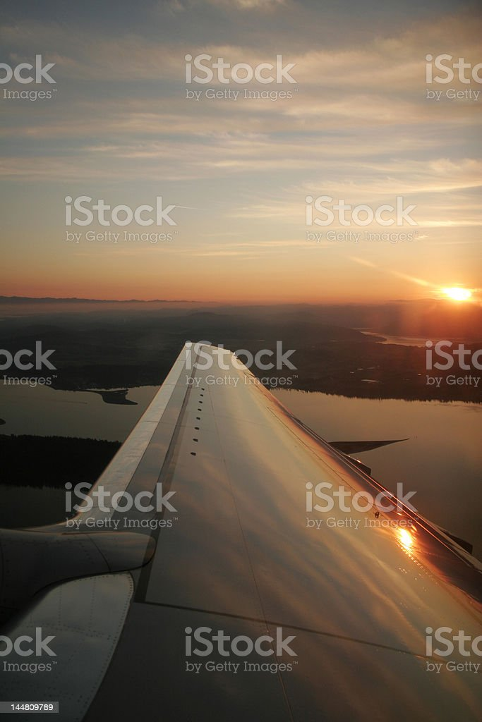 Sunset by the window royalty-free stock photo